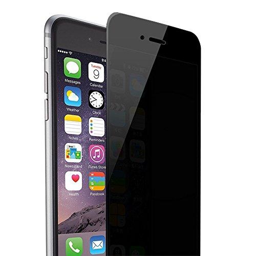 Magicmoon iPhone 6S Plus 6 Plus 5S 5C 5 SE Vita Privata Anti Spy Anti Glare Balistico Vetro temperato HD 2.5D Curva di Bordo Proteggi Schermo 9H Durezza Anti Shatter, Antigraffio, L'anti Impronta Digitale, Bubble Libero Come Black Mirror (iphone 6 6S)