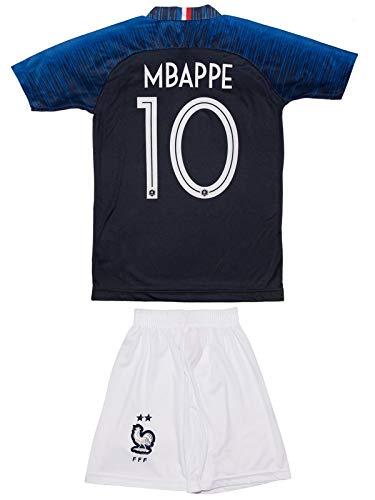 ATB Frankreich # 10 Mbappe 2018 Heim Kinder Trikot und Hose mit Socken (128)