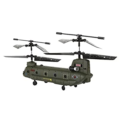 Syma S026G Rc Remote Control Army Military Cargo GYRO Helicopter 3 Channels Infrared Control Indoor Model Toy