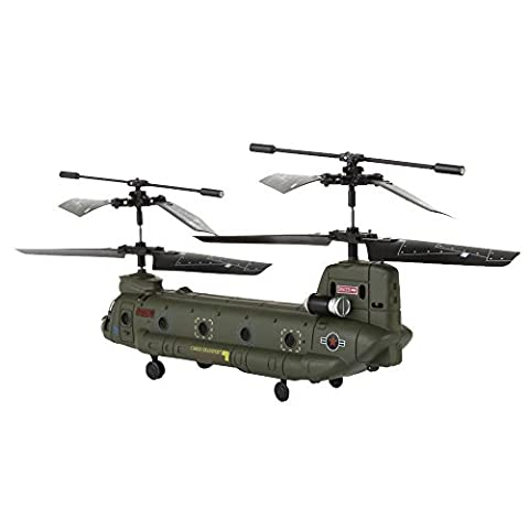 Syma S026G Rc Remote Control Army Military Cargo GYRO Helicopter 3 Channels Infrared Control Indoor Model