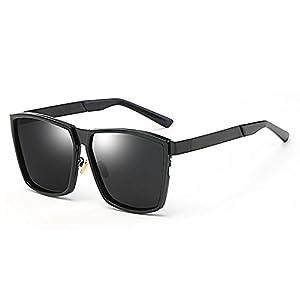 NAN Lunettes de soleil version coréenne des hommes et des femmes Hipster rétro carré lunettes polarisées rondes