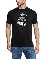 coole-fun-t-shirts T-SHIRT What would MAC GYVER DO ? SCHWARZ