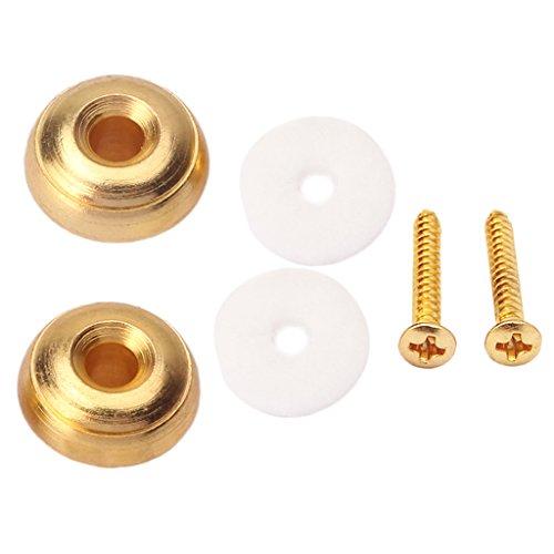MagiDeal Gurtpin/Endpin, Security Lock Pin StrapLock Univeral für Gitarre Mandoline und Ukulele - Gold