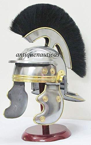 Shiv Shakti Enterprises Mittelalterlicher Ritter Rüstung römischer Helm Centurion Historischer Helm Rüstung mit schwarzem Pflaume Halloween