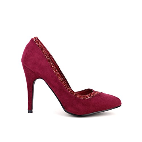 Cendriyon, Escarpin color Bordeaux simili peau CM'S Chaussures Femme Bordeaux