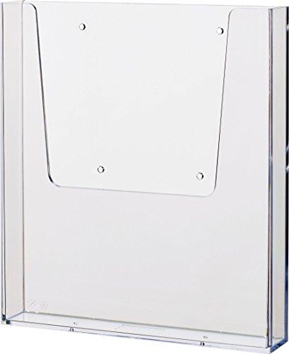 Helit H2350202 - Wandprospekthalter the help wall 1/3 DIN A4, glasklar