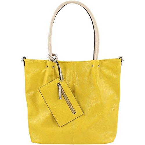 Maestro Surprise Handtasche Bag in Bag Shopper 41 cm gelb/ice