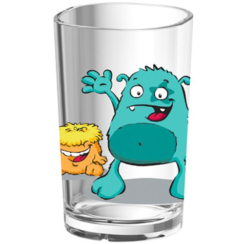 Emsa 516275 Kinder-Trinkglas Kids, 0, 2 Liter, Motiv: Monster
