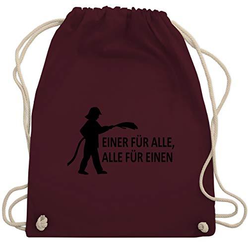 Feuerwehr - Einer für alle, alle für einen - Unisize - Bordeauxrot - WM110 - Turnbeutel & Gym Bag Fw-hose