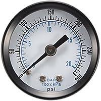 """Kreema Indicador de presión 0-20Bar 0-300PSI Medidor de rango Manómetro 40mm 1.5"""" Dial Neumático Medidor hidráulico"""