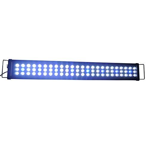 Aquarien Eco Aquarium Beleuchtung LED Aufsetzleuchte Hochleistung Lampe Aquariumleuchte Blau Weiß Lampe 90-120cm A093