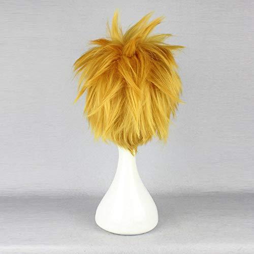 WIG MINE Gelbe flauschige chaotisch PerückeKingdom Hearts Ventus COS Perücke gelb kurzes Haar männlich