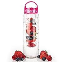 Savisto Tritan 800ml Fruit Infuser Water Bottle, BPA Free