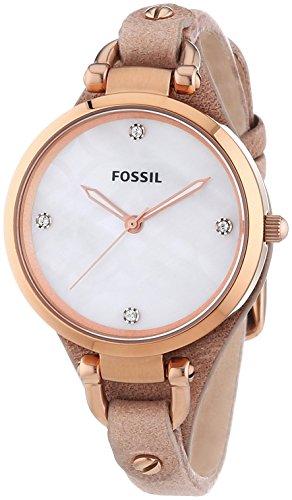 Fossil ES3151 - Orologio da polso donna, pelle, colore: beige