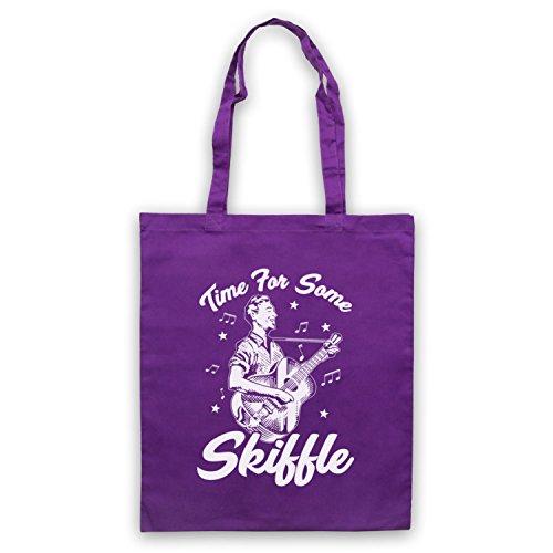 Time For Some Skiffle Jazz Folk Music Love Umhangetaschen Violett