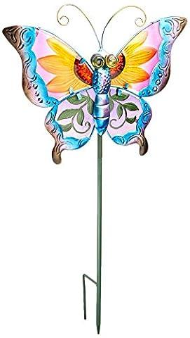 Creekwood Floral Butterfly Stake - Purple