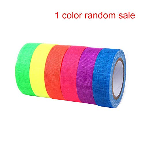 XIYAO UV Blacklight reaktives Fluoreszierendes Tuch/Neon-Gaffer-Band, Super Bright für Glow Party ()
