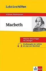 Klett Lektürehilfen Macbeth: für Oberstufe und Abitur