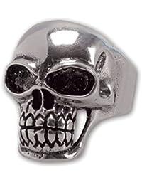 etNox - Ring ''Totenkopf'' 925 Silber (R402)