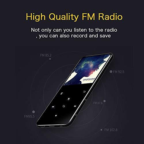Mibao Lettore MP3 Bluetooth, MP3 Lostless Music Player 16GB con 2.4' TFT Display a Colori, Pulsante di Tocco, con Radio FM/Registratore Vocale/Immagine/E-book, Supporto Espandibile Max Fino a 64GB - 7