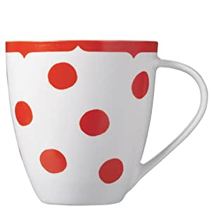 Churchill China Cath Kidston Dotty Crush Mug, Red, Fine China