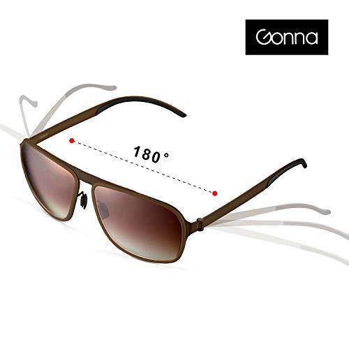GONNA Retro-Sonnenbrille für Fahrer mit metallischer Fassung, super leicht und super klar. Unisex-Sonnenbrille, UV400