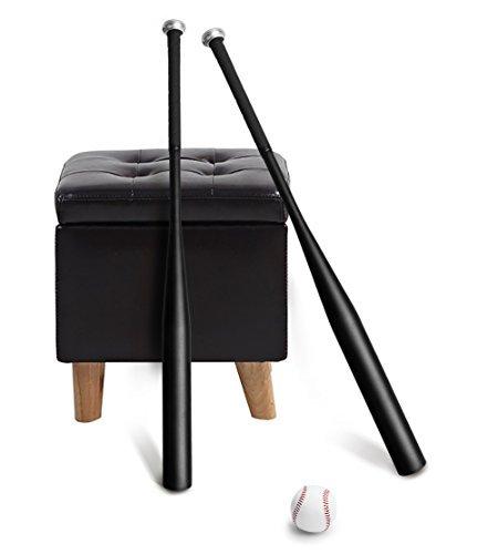 Baseballschläger,Aluminium Baseballschläger, 30-Zoll-Baseball-Set mit Ball und Tasche(Schwarz)