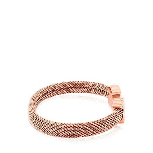 Imagen de tous mesh brazalete mujer acero inoxidable ip rosay plata vermeil rosa. 17,5 cm alternativa