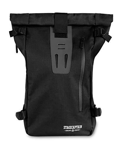 Stagecaptain MB-53 - Zaino Messenger per PC portatile/tablet con struttura a rullo, impermeabile, colore: Nero