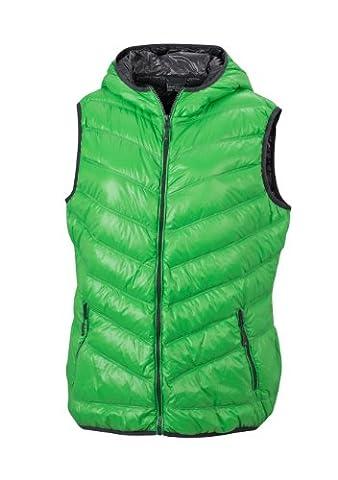 James & Nicholson Damen Jacke Daunenweste Ladies' Down Vest grün (green/carbon) Large