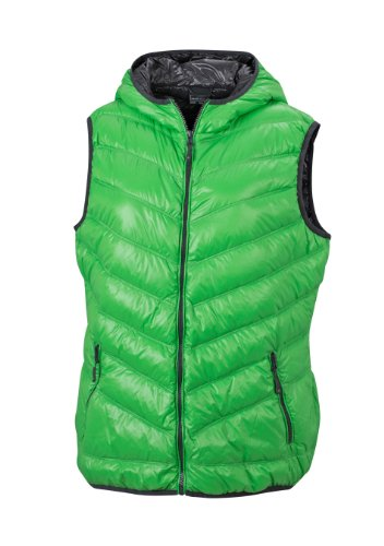 JAMES & NICHOLSON Daunenweste Ladies' Down Vest - Blouson - Femme Vert (green/carbon)
