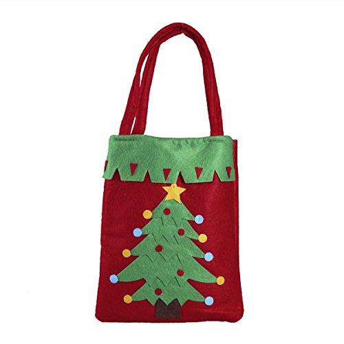 (Tinksky Stofftasche Tragetaschen Weihnachten Geschenk Beutel Süßigkeit Handtasche Weihnachtsdekoration (Weihnachtsbaum))