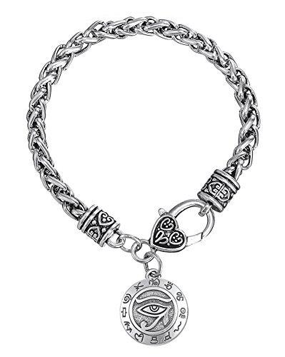 Eye Of Horus Alten Ägypten Anhänger Armbänder Zink Legierung Herz Karabinerverschluss Wicca Talisman Armreif