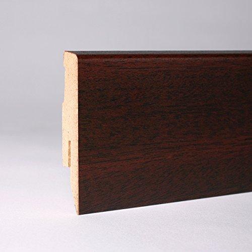 Sockelleiste - Fußleiste 60 x 20 x 2.600mm Dekor Mahagoni