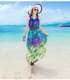 [] im Sommer jeden tag eine kleine chiffon pareos kleid Fett mm großen Codes für deutlich dünner Urlaub am Meer kleid cent Violett, grün