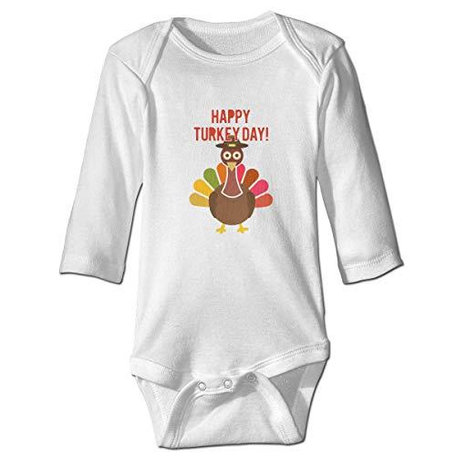 WBinHua Bodysuits Baby Body, Bertha Happy Thanksgiving Turkey Baby Boys Girls Long Sleeve Onesies Bodysuits