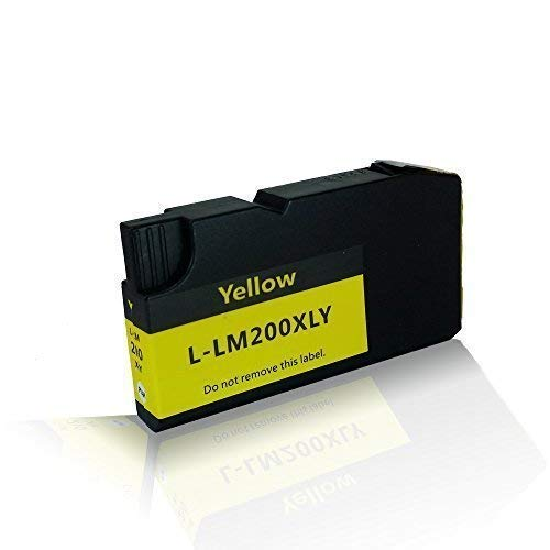 kompatible Tintenpatrone für Lexmark OfficeEdge Office Edge Pro 4000 Pro 5500t Pro 5500 Series Pro 5500 t 200XL 210XL 200K XL 200XLK 14L0088E Yellow Gelb - 14 Farb-tintenstrahl