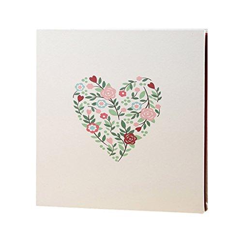FOOHAO- Album photo bricolage auto-adhésif, Albums souvenir famille Couple, fleurs amour PU couverture, 20 Pages (40 Surface) Pages intérieures (taille : Grand)
