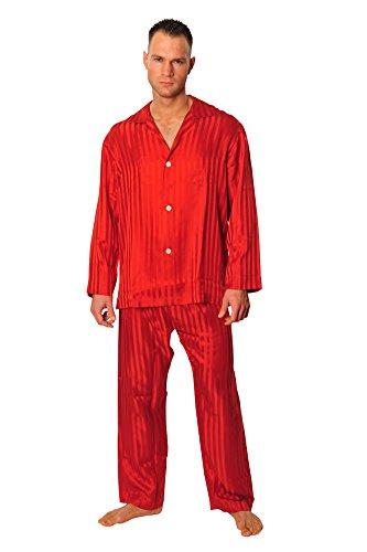 brioni-schlafanzug-herren-rot-seide-gestreift