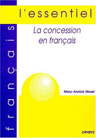La concession en français