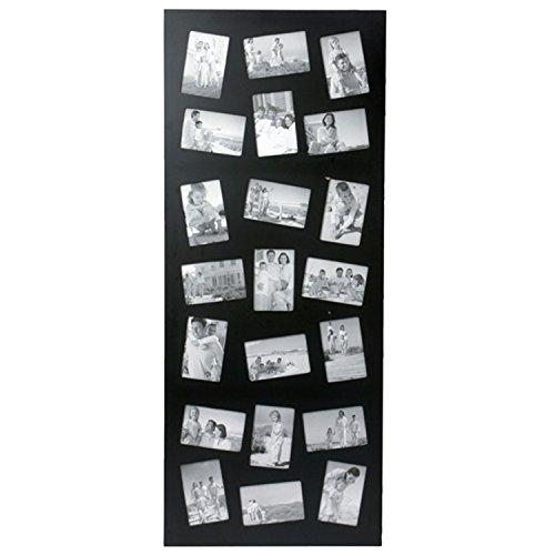 Cadre photos pêle mêle géant design - 21 encarts - Noir