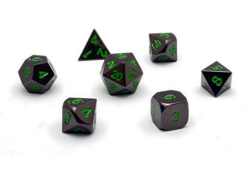Chromatic-Dragon-Solid-Metal-Poly-Dice-Set-By-DnDice-Available-in-Dark-Chrome-Red-Green-or-Purple-with-Dragon-Insignia-Presentation-Tin