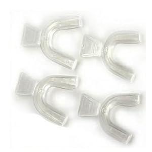 2 Paar Wechsel THERMOFORMING Zahnschienen / Schutzeinrichtungen für Zahnaufhellung / BLEICH