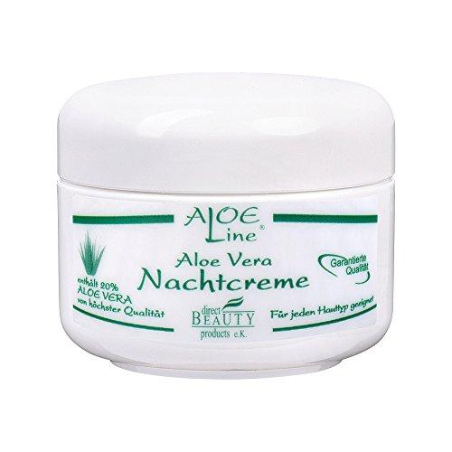 Aloe Vera Nachtcreme 50ml enthält 20% Aloe Vera, Bienenwachs, Tocopherol, Magnolia & Glycerin | ohne Parabene | Reichhaltig, aufbauend, fetthaltig & feuchtigkeitsspendend | Softcreme | Made in Germany