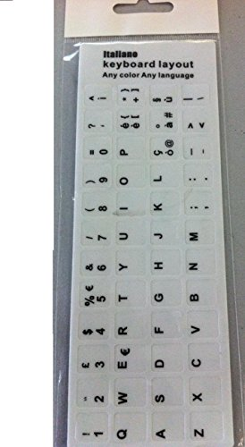 Italian Learning Keyboard Layout Sticker tasti adesivi per Laptop pc bianco