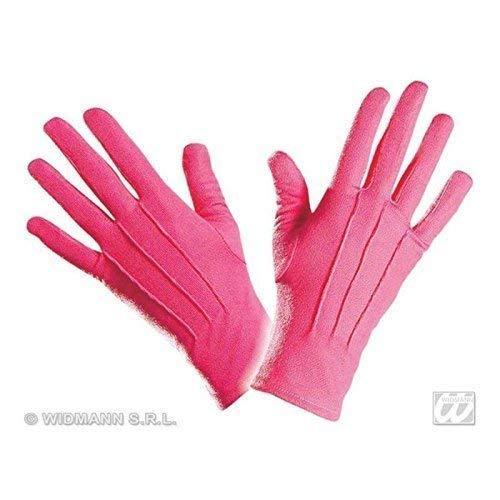 Lively Moments Kurze Handschuhe in Rosa / Kostüm Zubehör für Clown, Prinzessin Oder Gentlemen
