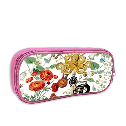 harry wang Federmäppchen für Kinder mädchen,Daisy Chain - Floral Pink _1030, pingk