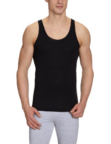 Schiesser Herren Unterhemd 005120-000, Gr. 5 (M), Schwarz (000-schwarz) (Schwarze Herren-unterwäsche)
