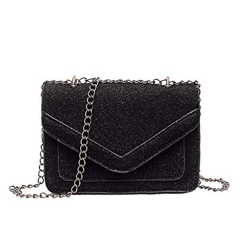 Women Handtasche Schultertasche Shopper Taschen Umhängetasche, Mode Vielseitig Sequins Bag Glitter Clutch Casual Wild Shoulder Slung Chain Small Square Bag (Glitter Womens Kostüme)