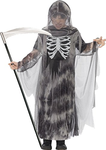 Jungen Fancy Halloween Scary Party Kleid Kinder Gespenst, Ghoul Kostüm Outfit Gr. L Alter 10-12, grau